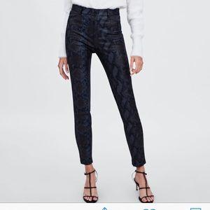 NWT Zara Snakeskin Leggings